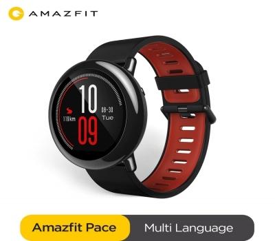 Amazfit original ritmo smartwatch amazfit relógio inteligente bluetooth gps informações push monitor de freqüência cardíaca inteligente para android