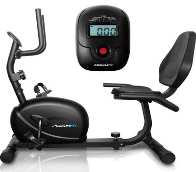 Leilão Bicicleta Ergométrica Horizontal PodiumFit H100 Magnética 8 cargas Max 130Kg