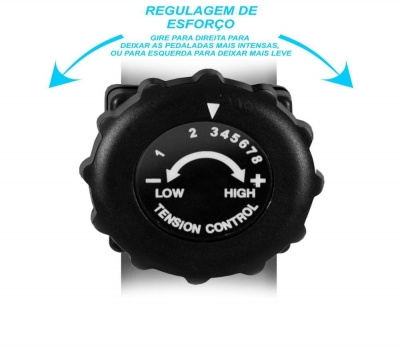 Imagem 1127 Bicicleta Ergométrica Horizontal PodiumFit H100 Magnética 8 cargas Max 130Kg