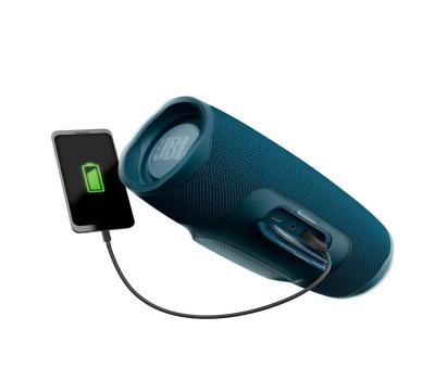 Leilão Caixa de Som Bluetooth Charge 4 Azul JBL à Prova d´água, carregador para celular
