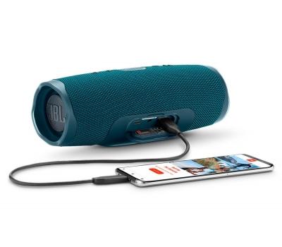 Imagem 1152 Caixa de Som Bluetooth Charge 4 Azul JBL à Prova d´água, carregador para celular