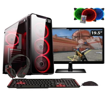 Computador Gamer Completo Easy PC Intel Core i5 (GeForce GTX 1050 Ti 4GB) 8GB HD 1TB Monitor LED 19.5
