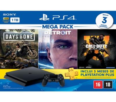 Leilão Console Playstation 4 1 Tb Hits Bundle Edição 5.1 PS4