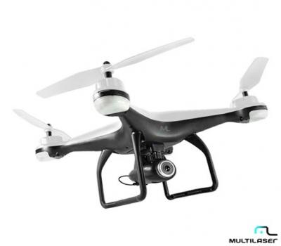 Drone Fênix Multilaser Branco com GPS, câmera Full HD e Controle Remoto