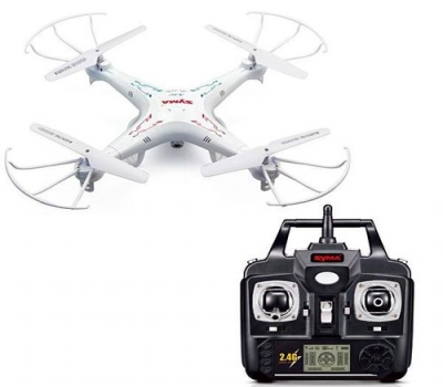 Leilão Drone Syma X5c-1 Upgraded 6 Eixos / bateria 500mah/3.7v Branco