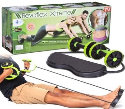 Leilão Kit Musculação Fitness Completo Academia Em Casa Revoflex Elastico Roda Abdominal Extensor