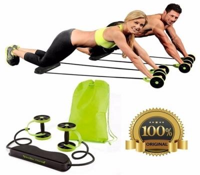 Kit Musculação Fitness Completo Academia Em Casa Revoflex Elastico Roda Abdominal Extensor