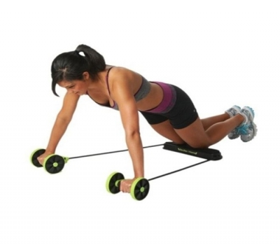 Imagem 1648 Kit Musculação Fitness Completo Academia Em Casa Revoflex Elastico Roda Abdominal Extensor