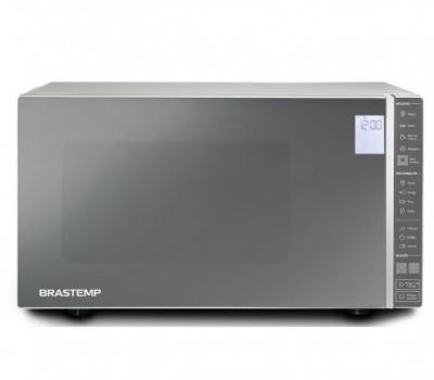 Leilão Micro-ondas Brastemp 32 Litros cor Inox Espelhado com Painel Integrado