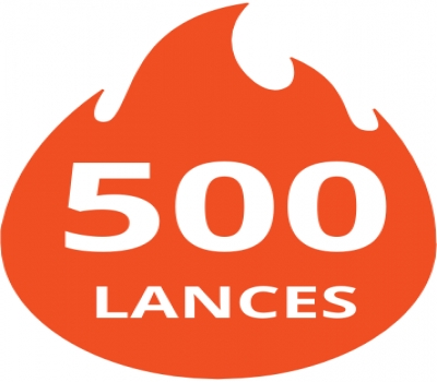 Pacote de 500 lances
