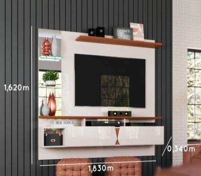 Imagem 983 Painel para TV 55 polegadas Intense Lukaliam Off White / Damasco