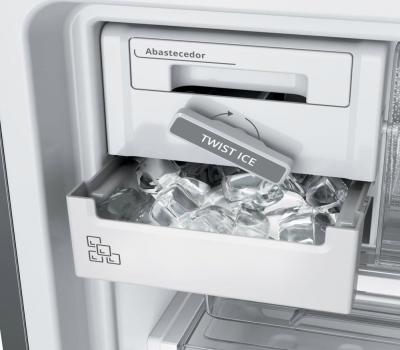 Imagem 1187 Refrigerador Brastemp Inverse BRE57AK Frost Free com Painel Eletrônico 443L Evox