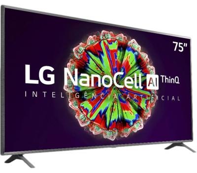 Imagem 6697 Smart TV LG 75 Pol. 4K NanoCell 75NANO79SNA - WiFi Bluetooth HDR Inteligencia Artificial ThinQAI Google Assistente Alexa IOT
