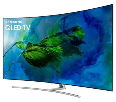 Smart TV QLED 65 UHD 4K Curva Samsung Q8C QPicture com Pontos Quânticos, HDR1500, QStyle, Design 360, One Connect, QSmart, HDMI e USB