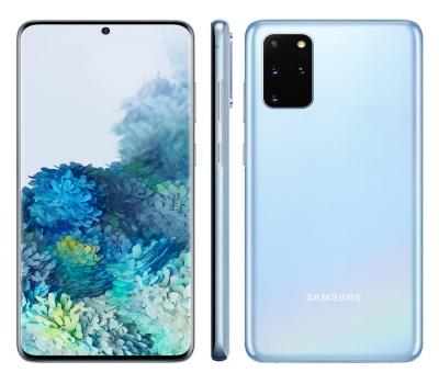 Leilão Smartphone Samsung Galaxy S20+ Azul 128GB, 8GB RAM, Tela Infinita de 6.7``